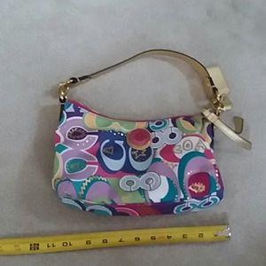 New coach purse  bright colors